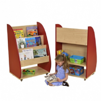 Demi Mobile Bookcase Red